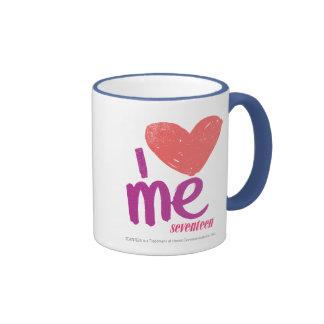 I Heart Me Pink/Purple Ringer Mug
