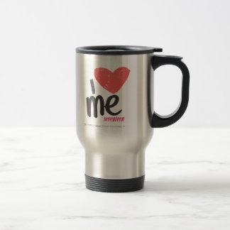 I Heart Me Pink Stainless Steel Travel Mug