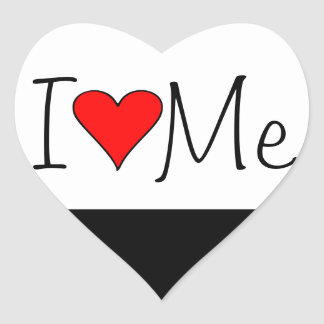 I heart me sticker