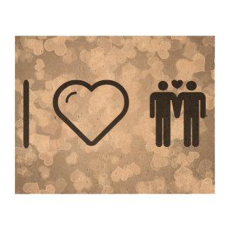 I Heart Mens Photo Cork Paper