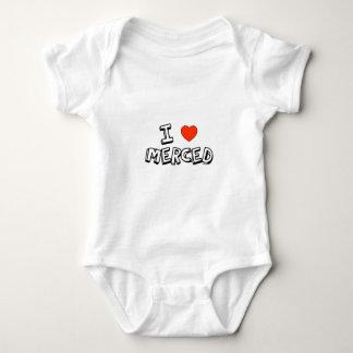 I Heart Merced Baby Bodysuit