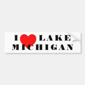 I heart Michigan Bumper Sticker