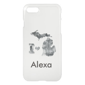 I heart Michigan Watercolor iPhone 7 Case