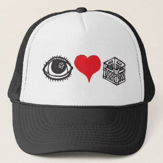 I Heart Milkcrates Trucker Hat