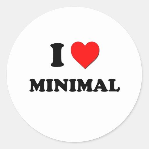 I Heart Minimal Round Stickers