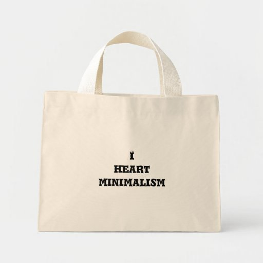 I heart minimalism canvas bag