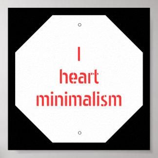 I heart minimalism print