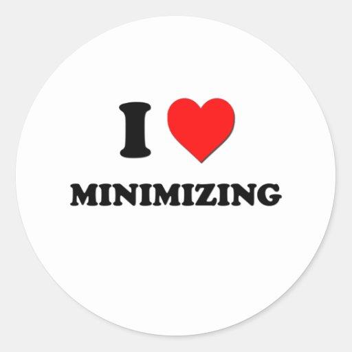 I Heart Minimizing Stickers