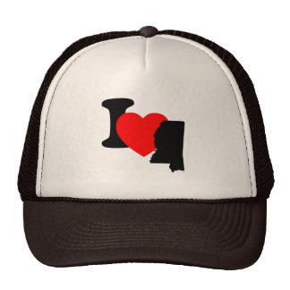 I Heart Mississippi Mesh Hats