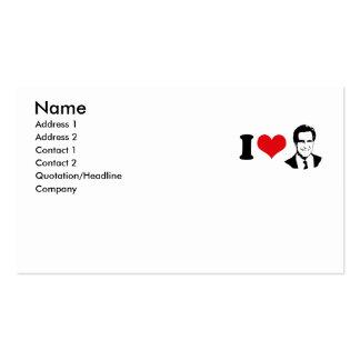 I HEART MITT ROMNEY 2012 PACK OF STANDARD BUSINESS CARDS