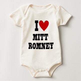 i heart mitt romney baby bodysuit