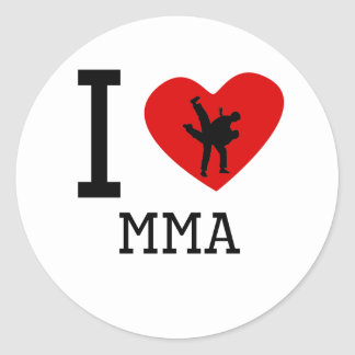 I Heart MMA Classic Round Sticker