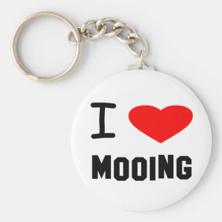 I Heart mooing Keychains