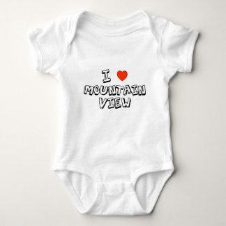 I Heart Mountain View Baby Bodysuit