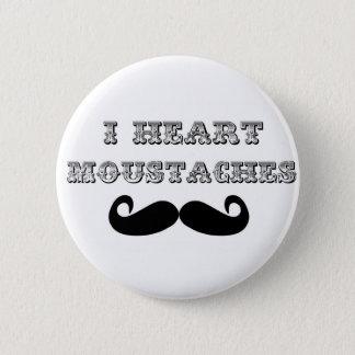 I Heart Moustaches 6 Cm Round Badge