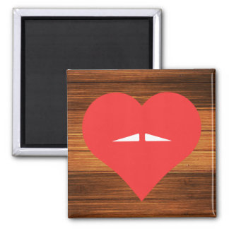 I Heart Moustaches Icon Square Magnet