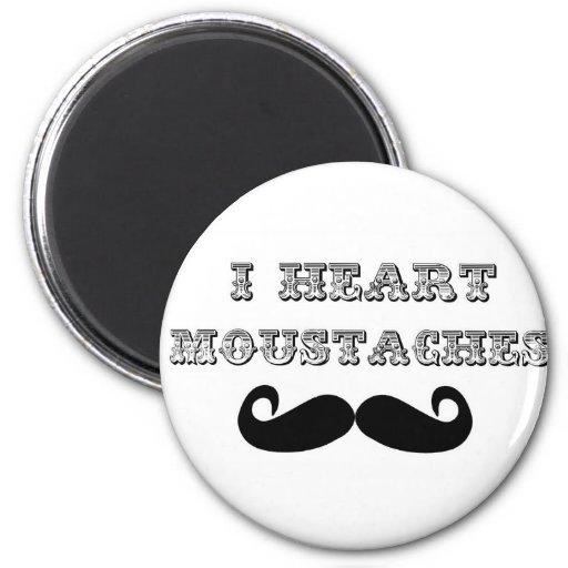 I Heart Moustaches Magnet