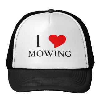 I Heart MOWING Hats