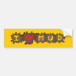 I Heart Mud Bumper Sticker