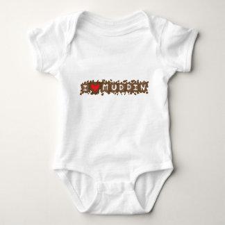 I Heart Muddin Baby Bodysuit