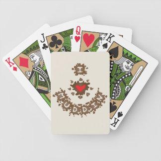 I Heart Muddin I Love Muddin Bicycle Playing Cards