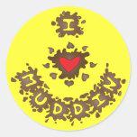 I Heart Muddin Round Sticker