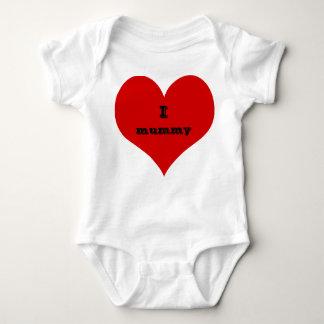 i heart mummy baby suit clothing baby bodysuit