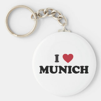 I Heart Munich Germany Basic Round Button Key Ring