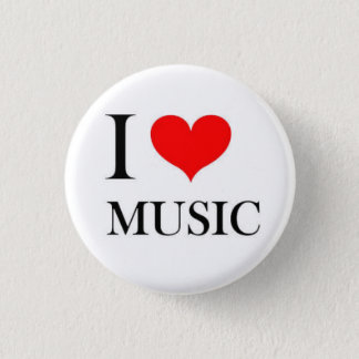 I Heart Music 3 Cm Round Badge