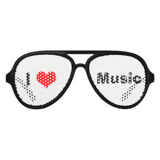 I Heart Music Aviator Sunglasses- Customizable Aviator Sunglasses