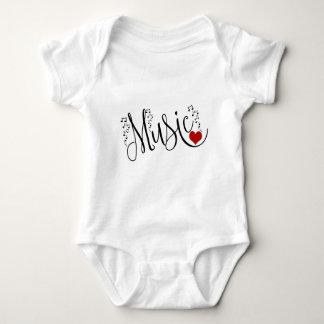 I Heart Music Baby Bodysuit