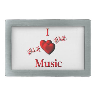 I Heart Music Belt Buckles