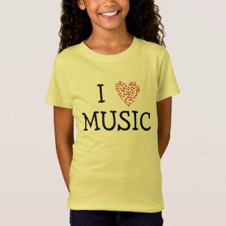 I Heart Music Shirt for Kids