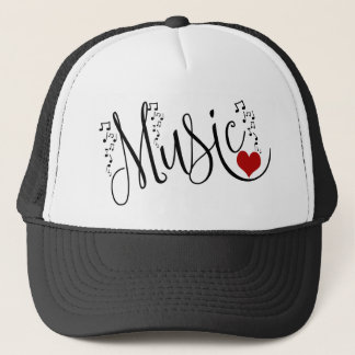 I Heart Music Trucker Hat