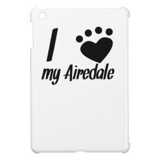 I Heart My Airedale iPad Mini Cover
