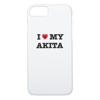 I Heart My Akita iPhone 7 Case