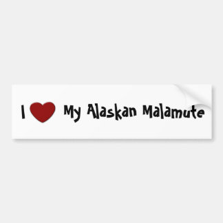 I (heart) My Alaskan Malamute Bumper Sticker