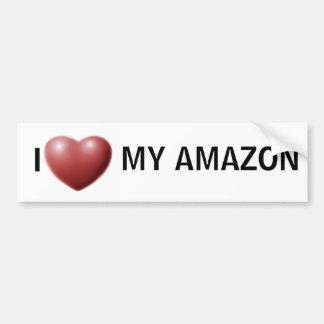 I heart my amazon bumper sticker