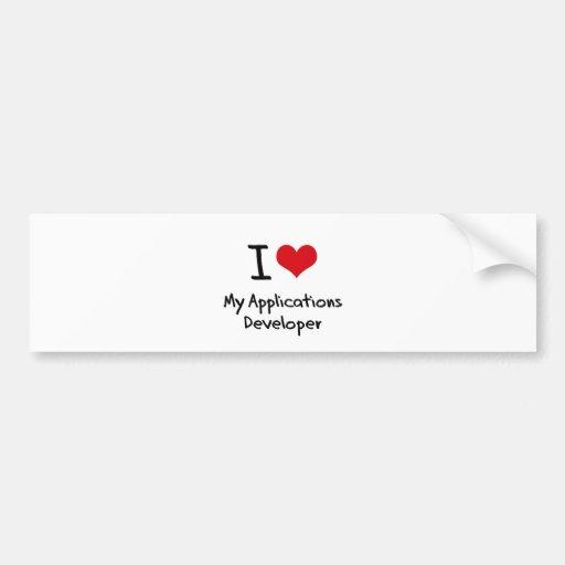 I heart My Applications Developer Bumper Stickers