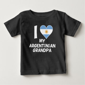 I Heart My Argentinian Grandpa Baby T-Shirt