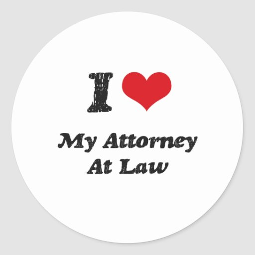I heart My Attorney At Law Stickers