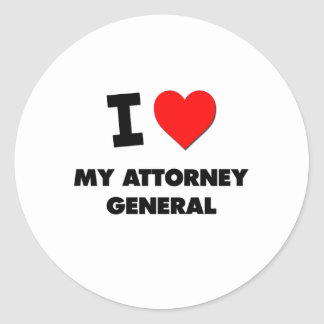 I Heart My Attorney General Stickers