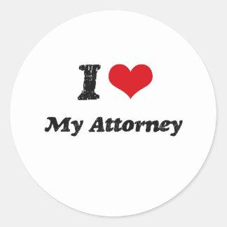 I heart My Attorney Sticker