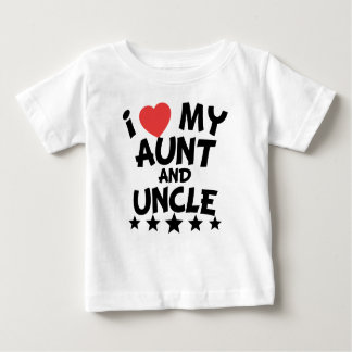 I Heart My Aunt And Uncle Baby T-Shirt