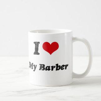 I heart My Barber Basic White Mug