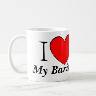 I Heart My Barista Basic White Mug