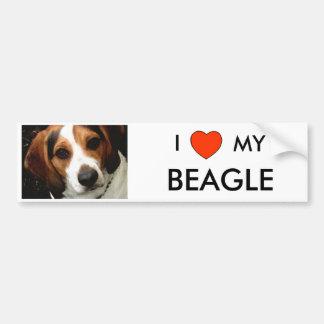 I Heart MY BEAGLE Bumper Sticker