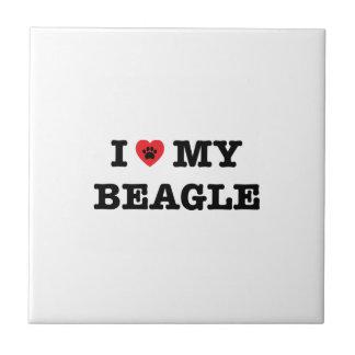 I Heart My Beagle Ceramic Tile