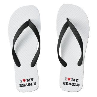 I Heart My Beagle Flip Flops
