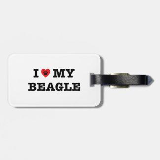 I Heart My Beagle Luggage Tag